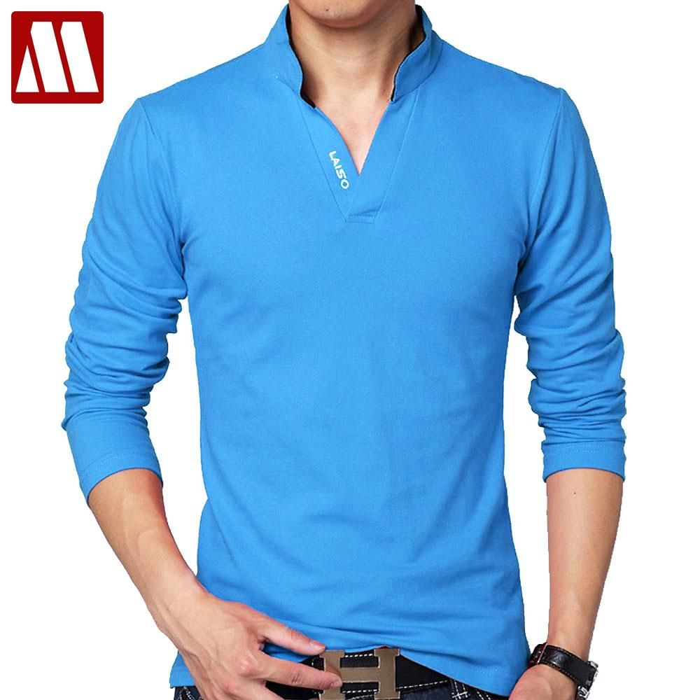 Hot Sale New 2018 Fashion Brand Men polo shirt Solid Color Long-Sleeve Slim  Fit Shirt Men Cotton polo Shirts Casual Shirts 5XL Price  19.99   FREE  Shipping ... cc7d94d910a95