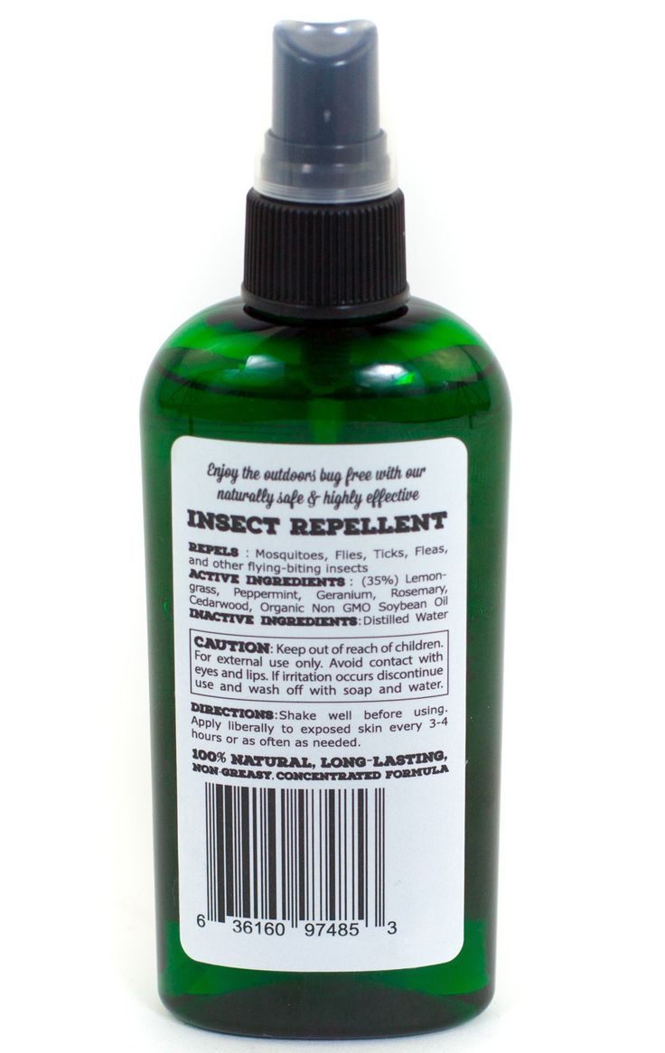 All natural chemical free insect repellent insect