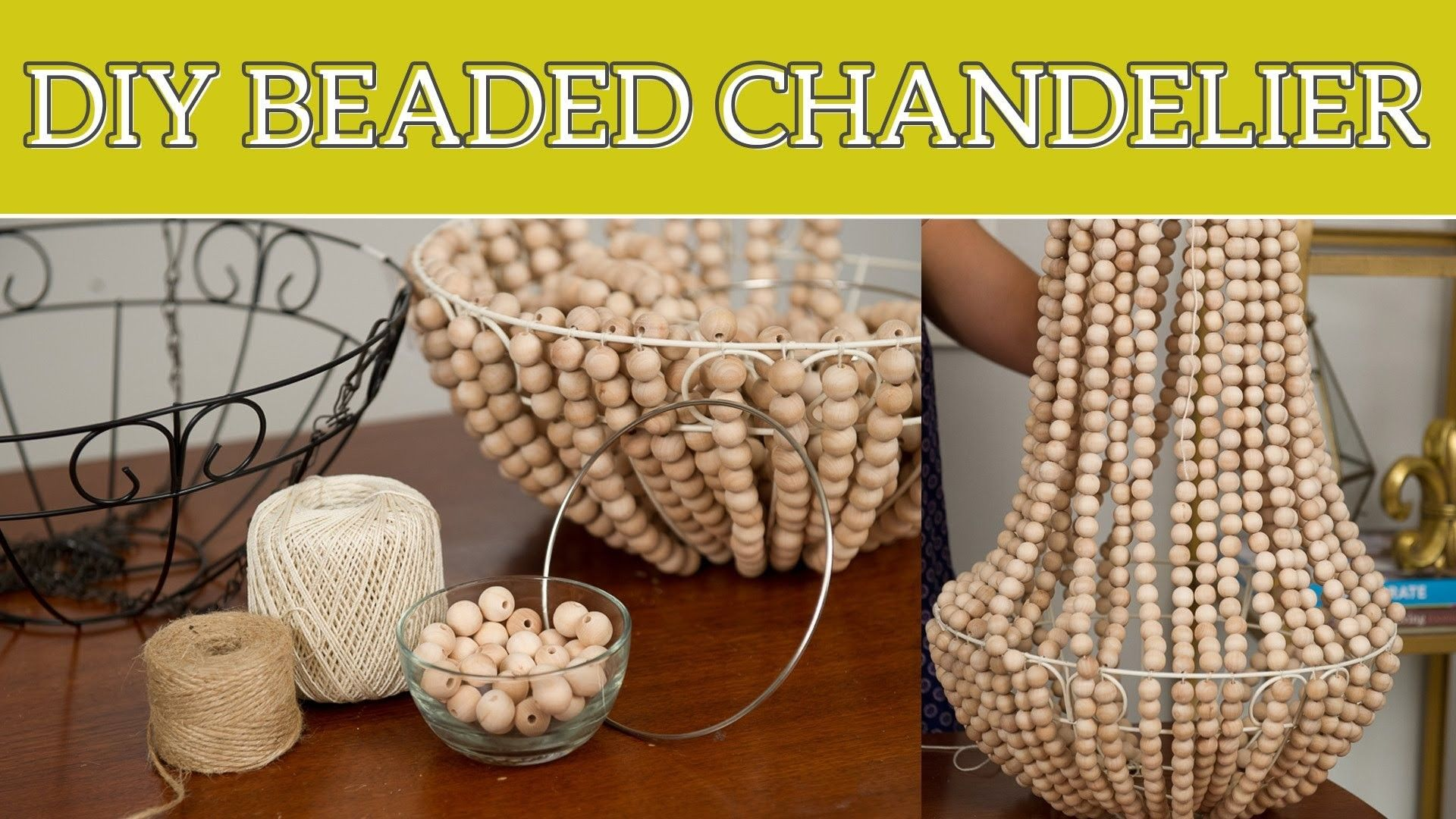 Diy home decor beaded chandelier also projects pinterest rh