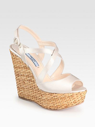 f573290c626c Gorgeous satin wedges for a wedding rehearsal