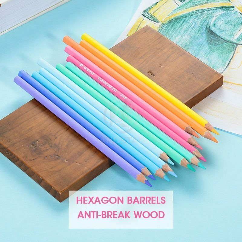 Pastel Colors Non-toxic Color Pencil lapisAndstal Marco 12//24 Macaron