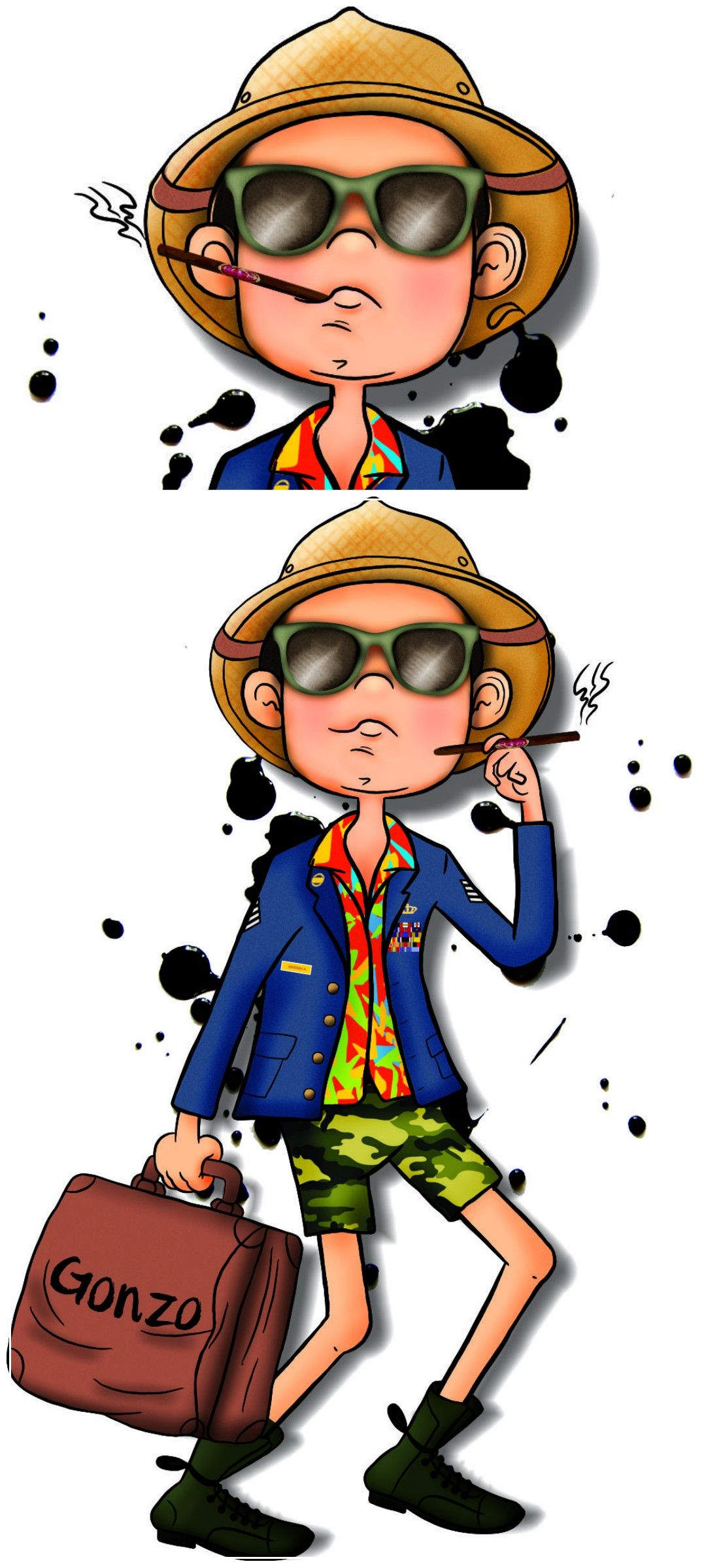 Ilustração Personalizada Querido Pix   Gonzo #draw #desenho