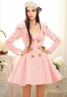 awesome pink pea coat | clothes | Pinterest | Jackets for women ...