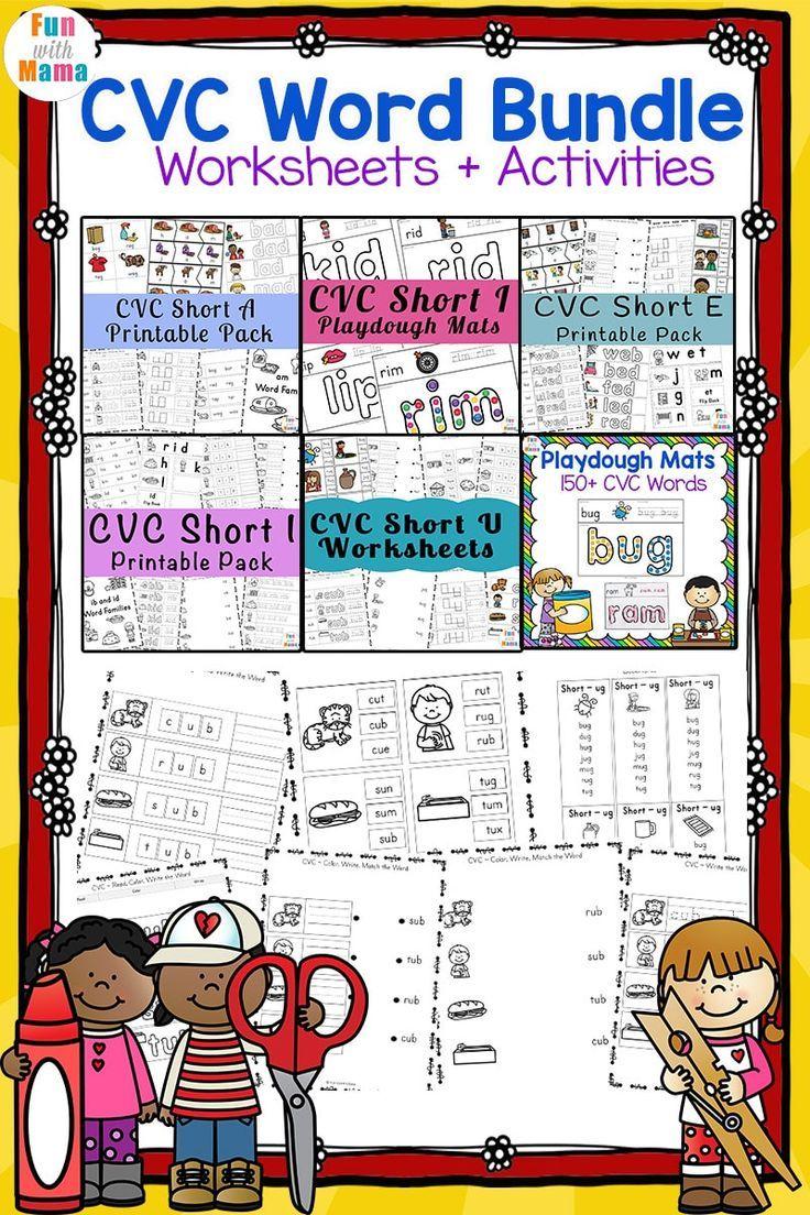 CVC Word Bundle Cvc words, Educational activities for