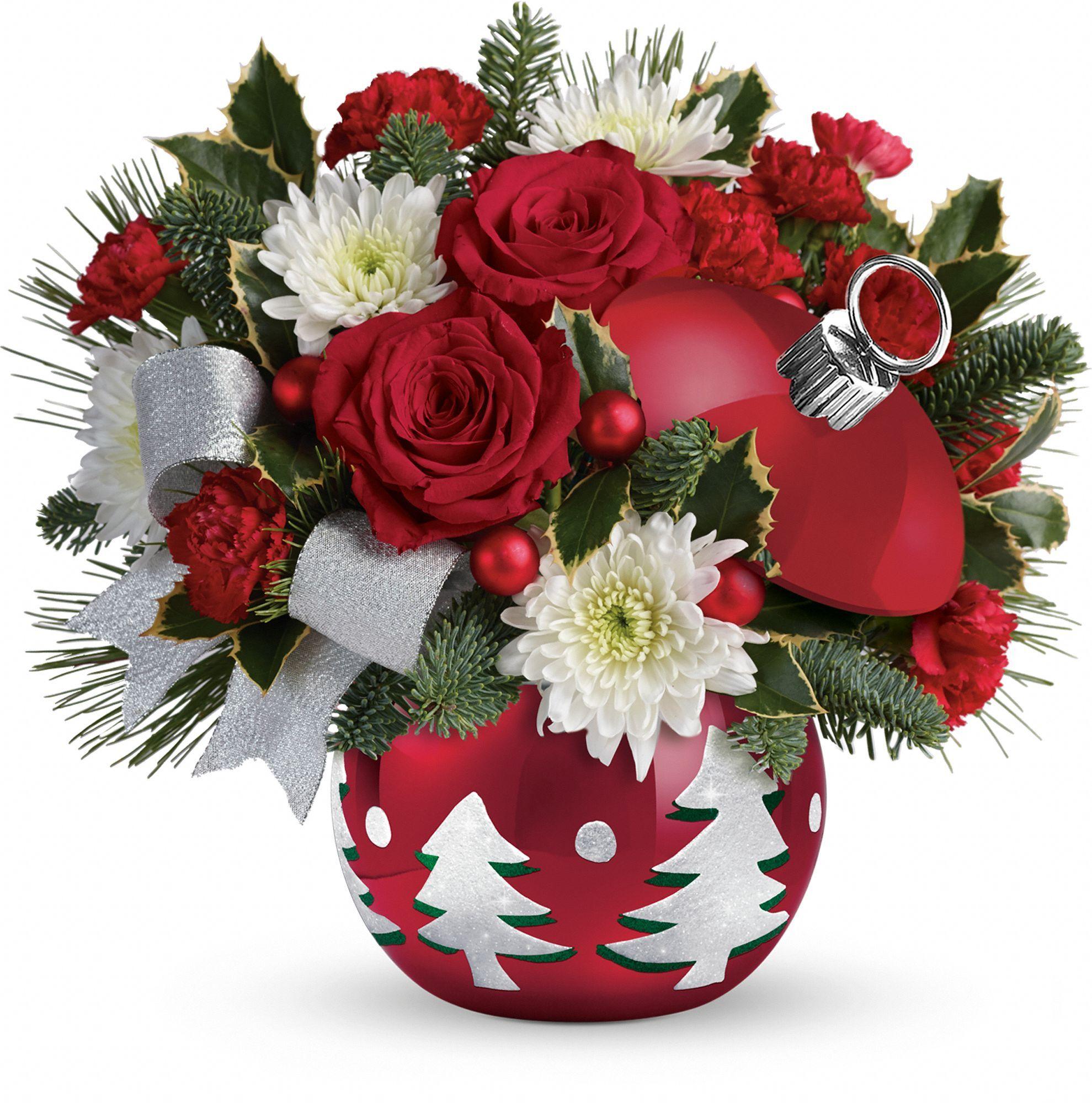Christmas festive basket in 2020 Christmas flower