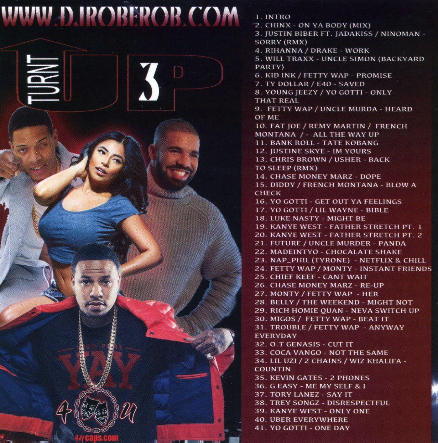 $6 25 - Dj Rob E Rob The Turn Up Pt 3 Hip Hop R&B Blends Non Stop