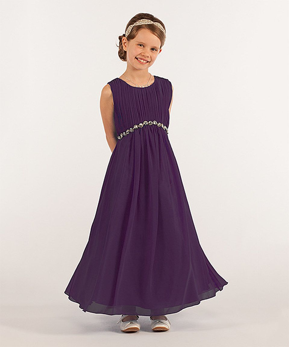 9446bb8ae36e Loving this Jolene Canada Purple Pleated Swing Dress - Girls on ...