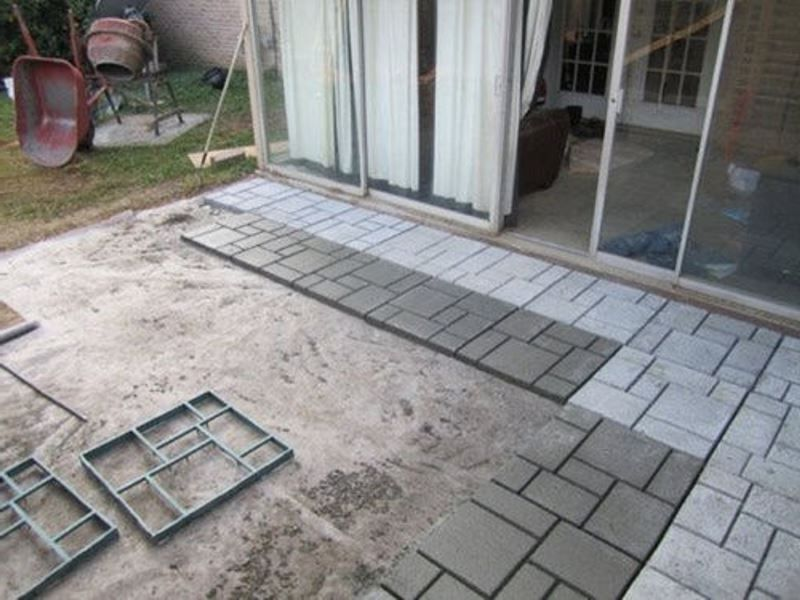 Diy Mold For Making Walks Patios Courtyards And
