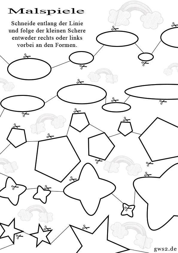 Formen ausschneiden … | Kunstunterricht - Ideen | Pinte…
