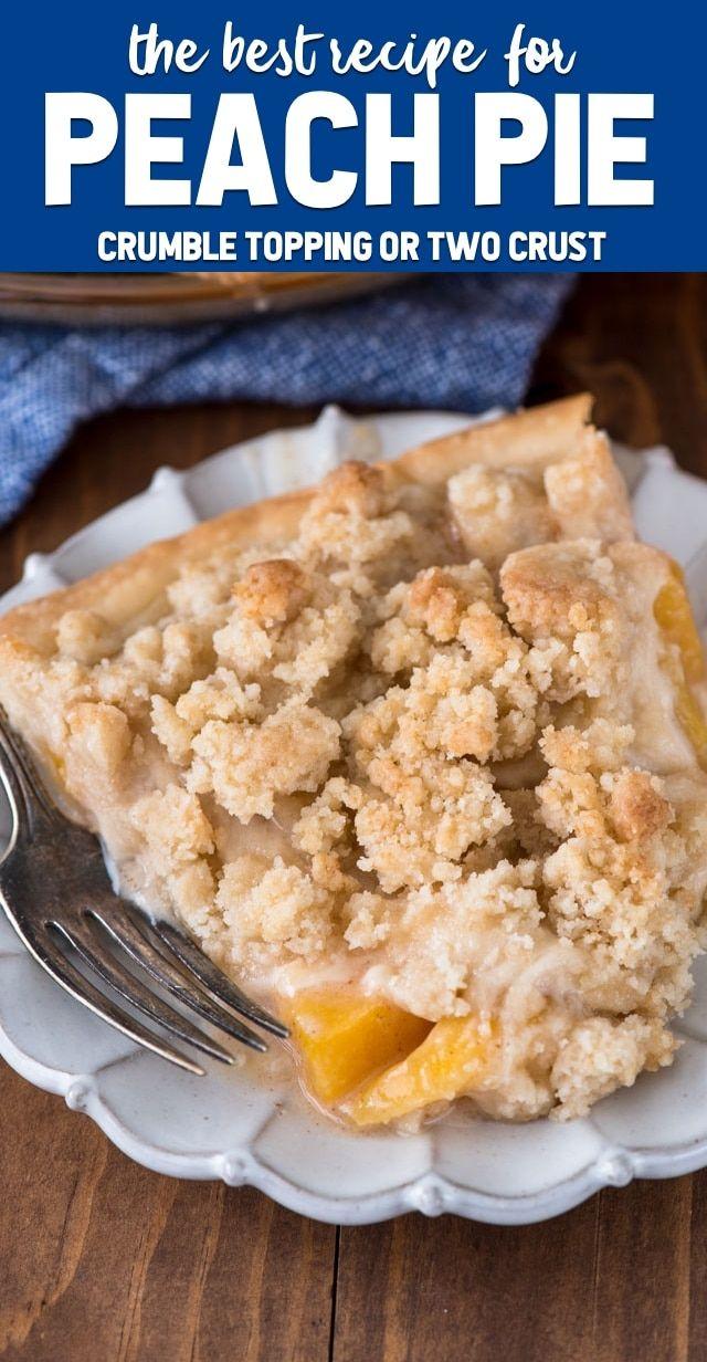 Peach Pie (double crust or crumble recipe)