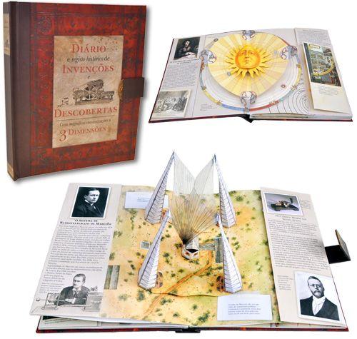 Diário e Registo Histórico de  Invenções e Descobertas - Com magníficas reconstruções a 3 Dimensões