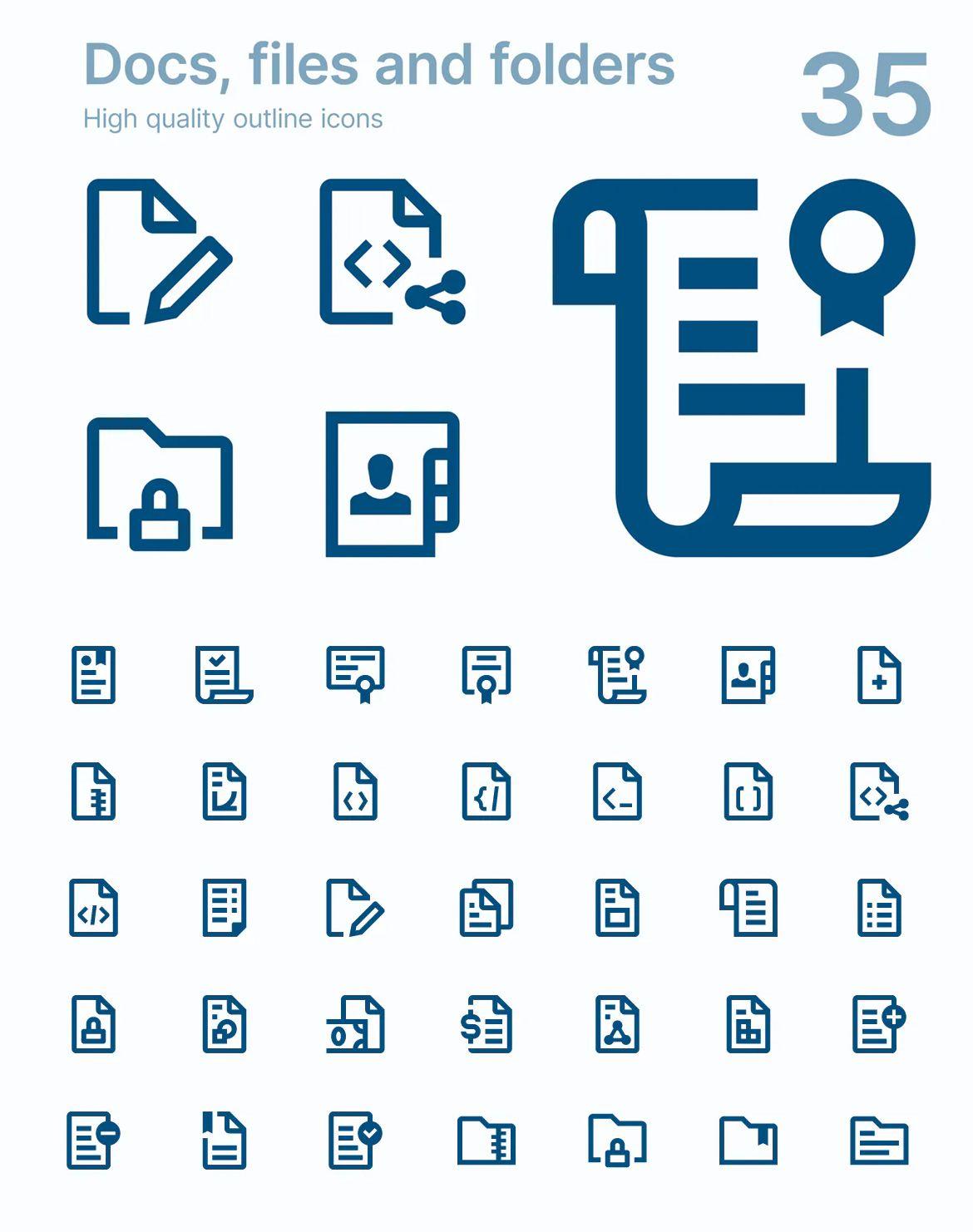 Docs, files and folders by polshindanil on Folder icon