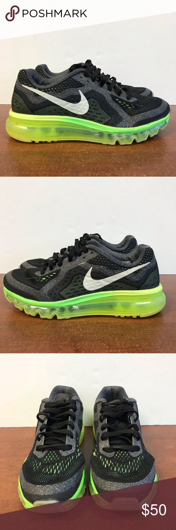 quality design a4aa1 fbe33 Nike Air Max 2014 GS Glow. Size Y6 or W7.5 Preowned Nike Air Max 2014 GS  Glow in the dark. Size 6 Youth or 7.5 Women s Nike Shoes Athletic Shoes