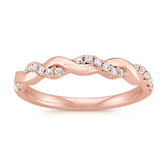 Rose Gold And Diamond Infinity Wedding Band Diamond Infinity Wedding Band Diamond Wedding Bands Wedding Ring Sets