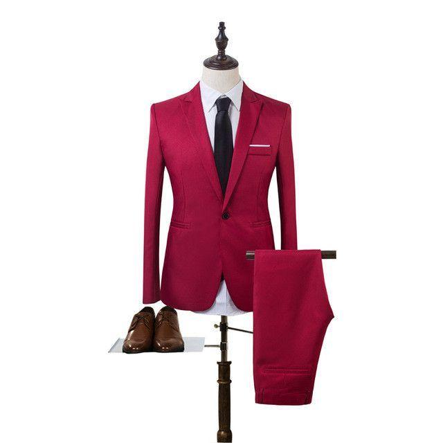 Men's Suit Pants Solid color Big Size High Quality Mens