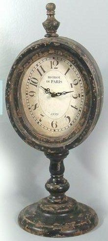 They have this style of clocks at Home Goods right now.... Going to have to pick one up and distress it!