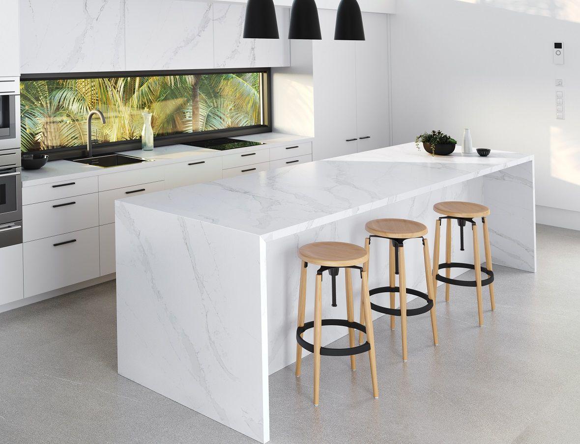 Best Silestone Eternal Calacatta Gold Quartz Kitchen Maison 400 x 300