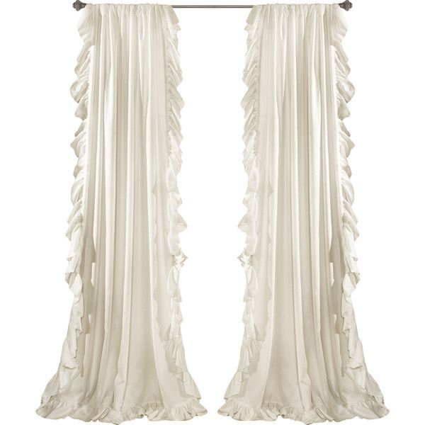 Eton Curtain Panels Reviews ❤ liked on Polyvore featuring home, home decor, window treatments and curtains