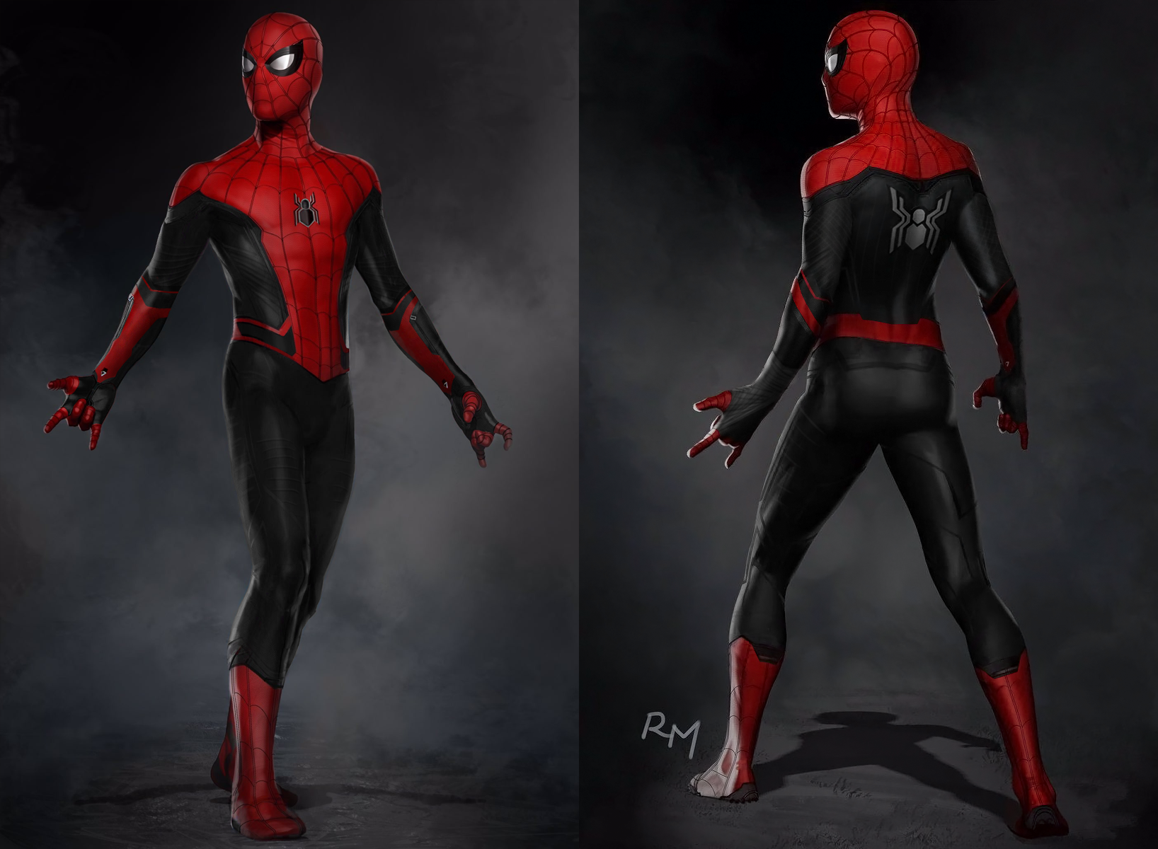Spiderman Far From Home Suit Art By Ryan Meinerding Spiderman Spiderman Pictures Black Spiderman