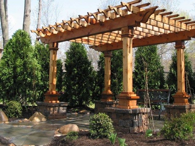 Patio Cover Piers Pergola And Patio Cover Sitescapes Landscape Design Stony  Brook, ...