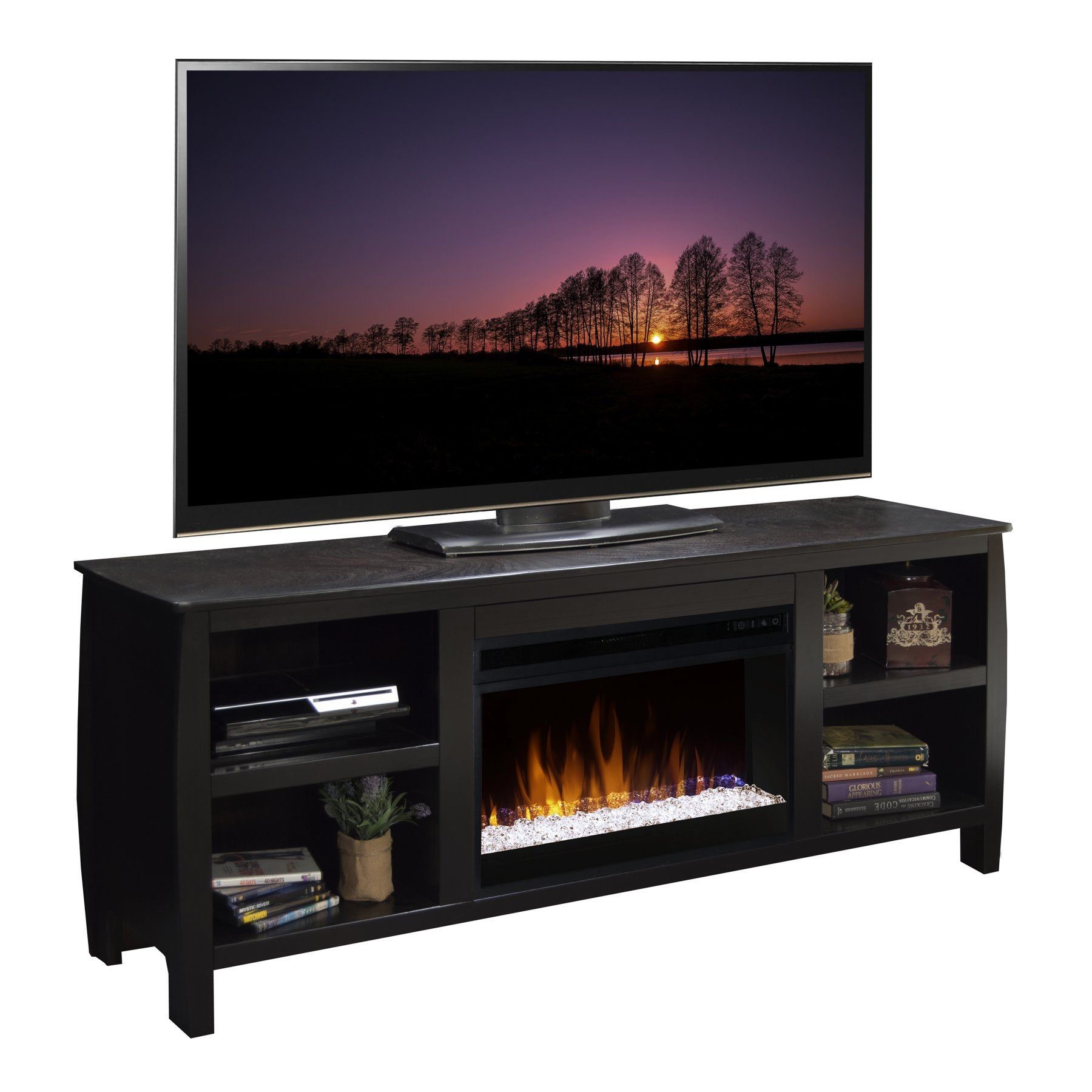 Legends Furniture Curve in Electric Media Fireplace CVMOC