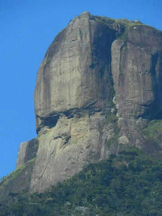 Pedra Da Gavea Vista Do Alto Da Boa Vista Rio De Janeiro Com