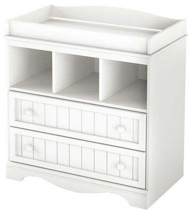 South Shore Savannah Collection Changing Table - Pure White | Baby ...