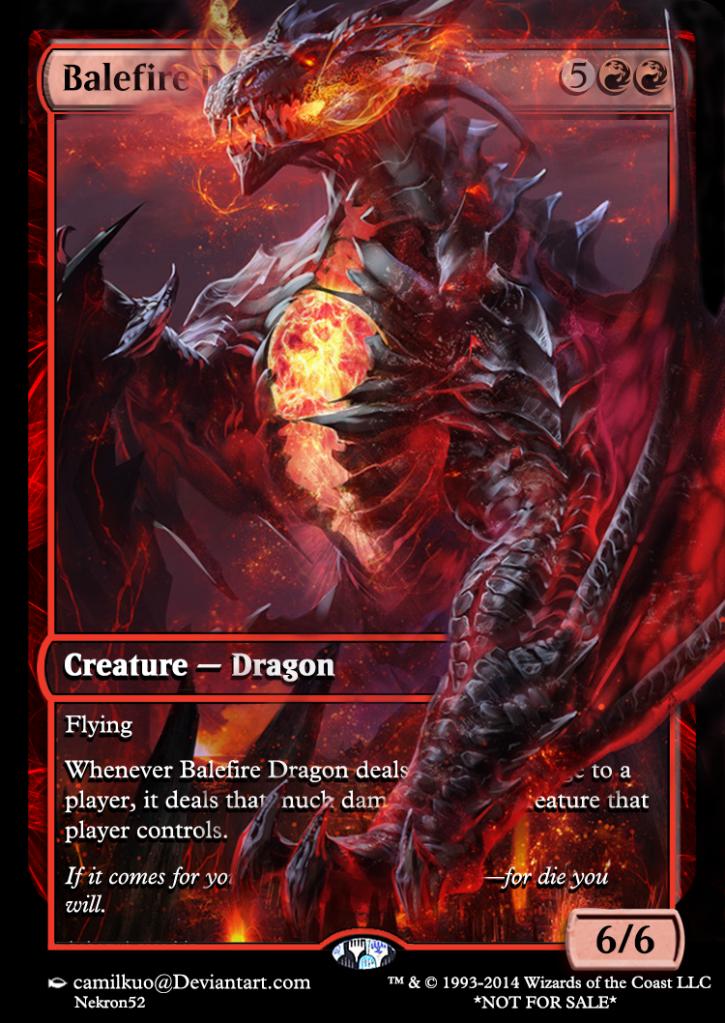 Balefire Dragon | MTG ALTS | Dragon artwork, Dragon, Fantasy dragon