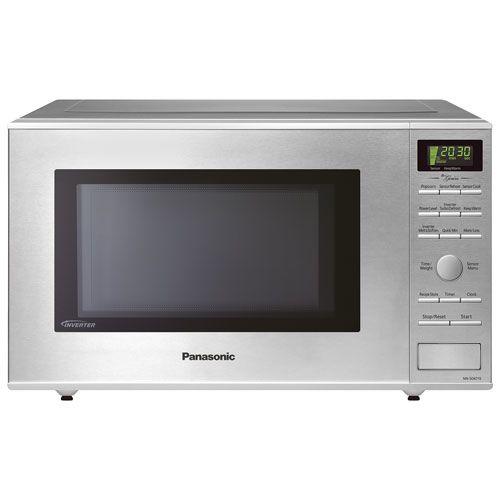 Panasonic Genius 1 2 Cu Ft Microwave Nnsd671sc Stainless Steel Counter Top Microwaves Best Buy Canada Countertop Microwave Microwave Top Microwaves