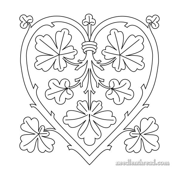 Heart Branching Out Free Hand Embroidery Pattern Hand
