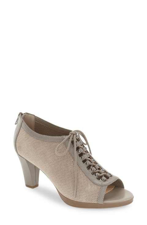 ea10eea1ebc Bella Vita 'Lilo' Lace-Up Peep Toe Pump (Women) | Narrow shoes ...