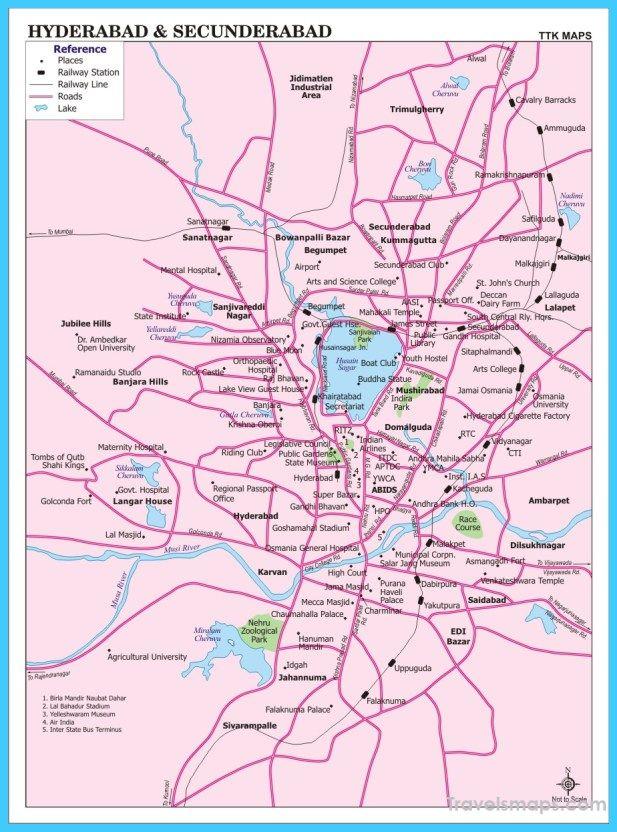 Hyderabad On India Map.Nice Map Of Hyderabad Travelsmaps Pinterest India Hyderabad