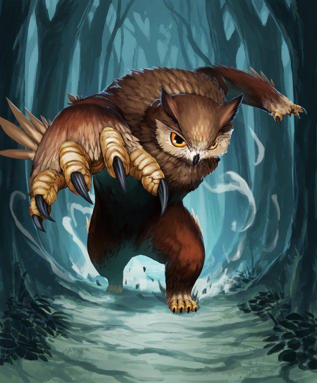 Card: Owlbear | Fantasy creatures, Fantasy monster ... - photo#24
