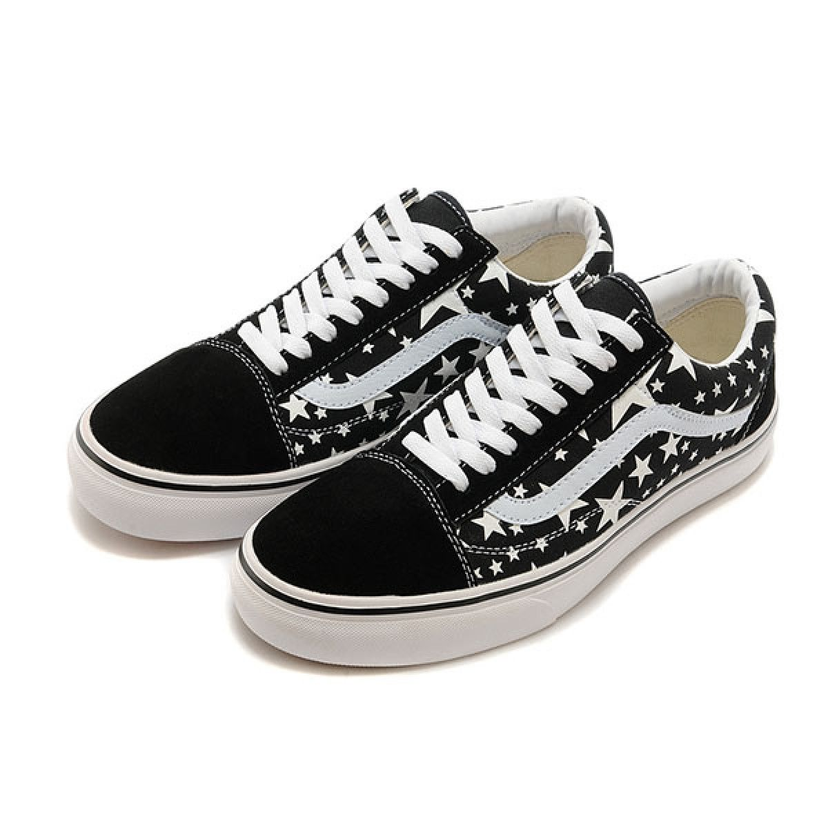 ff8288cb32 Vans Shoes Black Stars Old Skool Shoes Unisex Classic Canvas