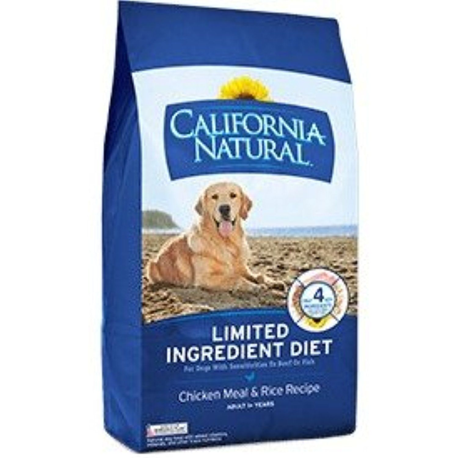 Chicken and Rice Adult Dry Dog Food California Natural 26