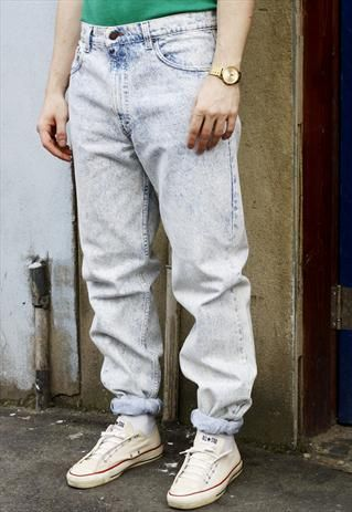 f4420242 Vintage 80s Levi's 505 Acid Wash Blue Denim Jeans | fashion in 2019 ...
