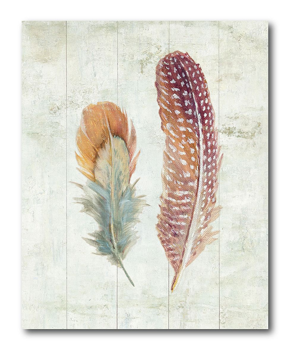 Natural Flora XI Bold Feathers Wrapped Canvas