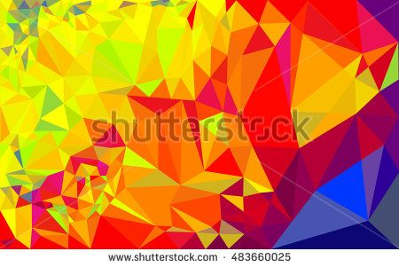 Blue Red And Yellow Low Poly Abstract Background Low Poly Low