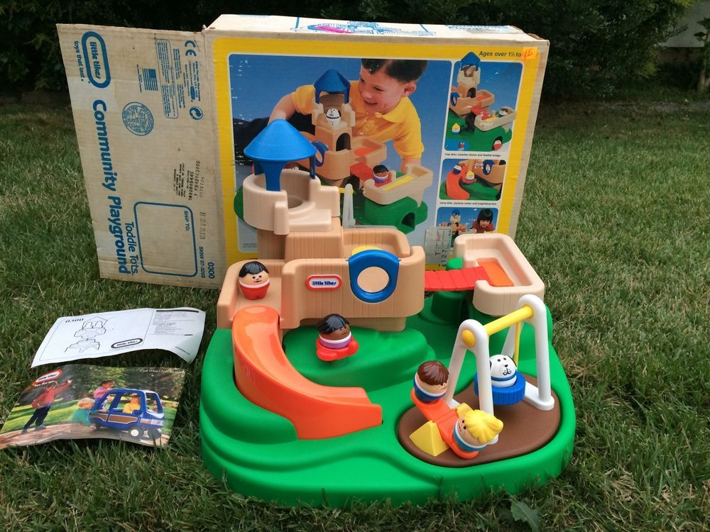 Little Tikes Toddle Tots Community Playground People Rare And Complete Excellent