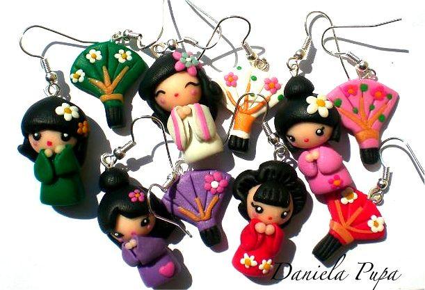 orecchini Jap dolls e ventagli | Flickr: Intercambio de fotos