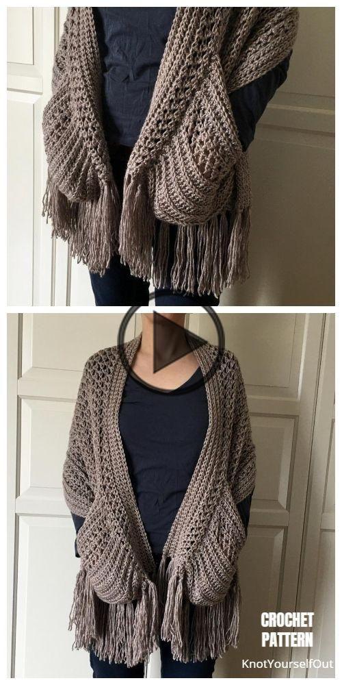 Pocket sjaal Gratis haakt Patroon & Paid in 2020   Crochet ...