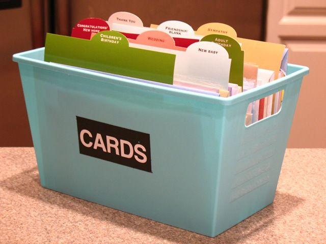 Or Use A Pretty Box With Lid Greeting Card Caddy They Have These At Dollar Store