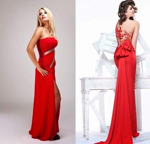Lange rote Abendkleider für Special Events | Abendkleid ...
