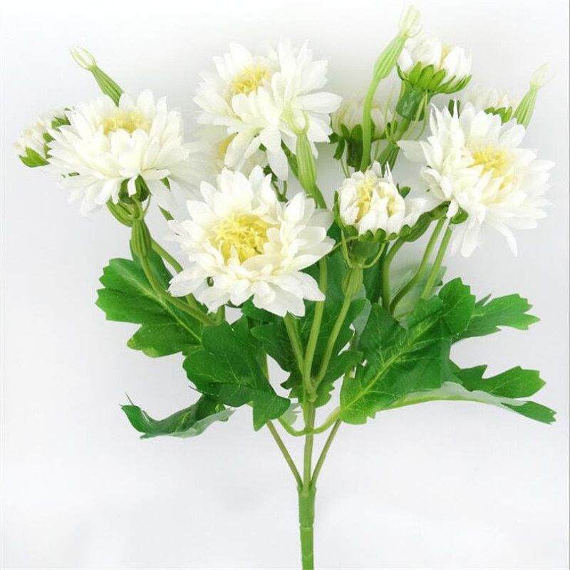 12pcs fake chrysanthemum 5 stems bunch 6 colors on house paint colors exterior simulator id=85169