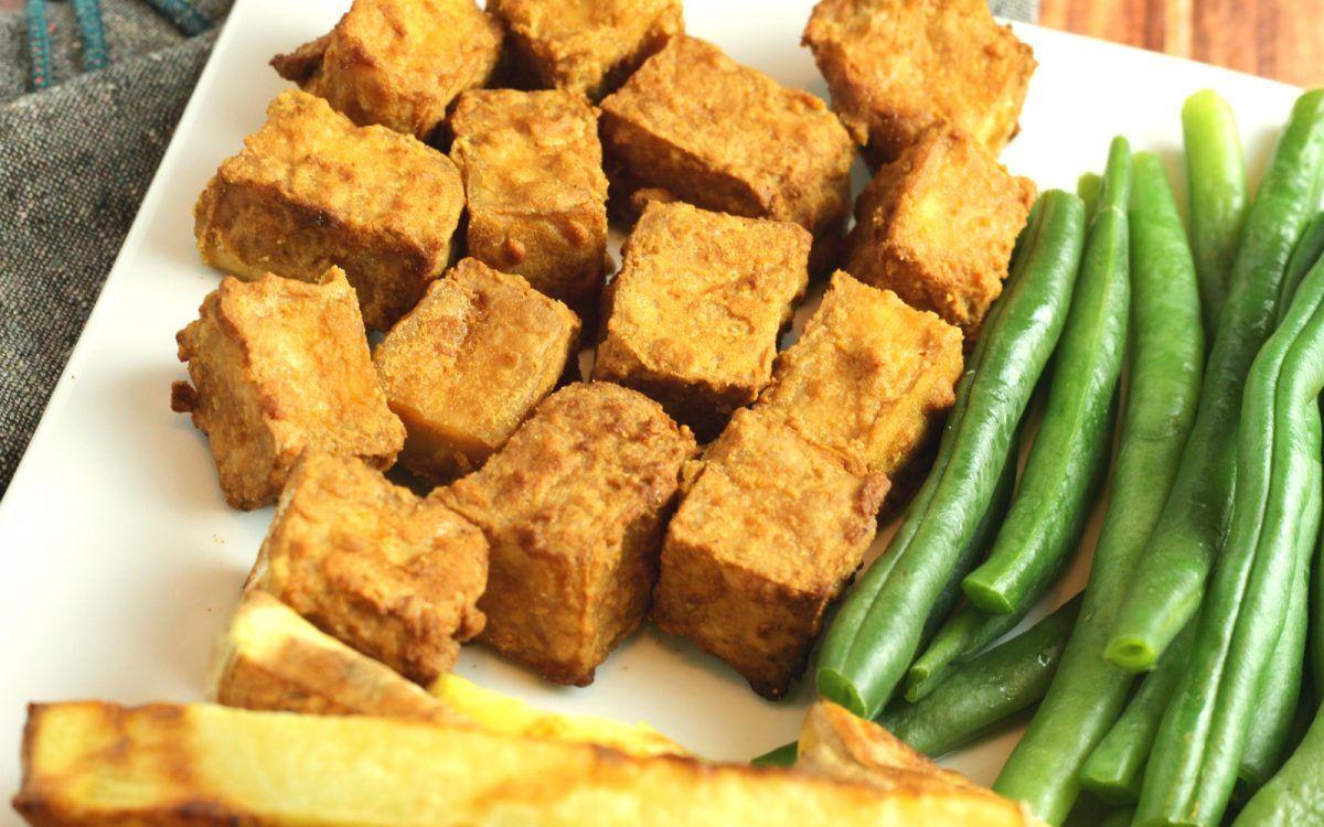 Crispy Air Fryer Tofu [Vegan, GlutenFree] One Green