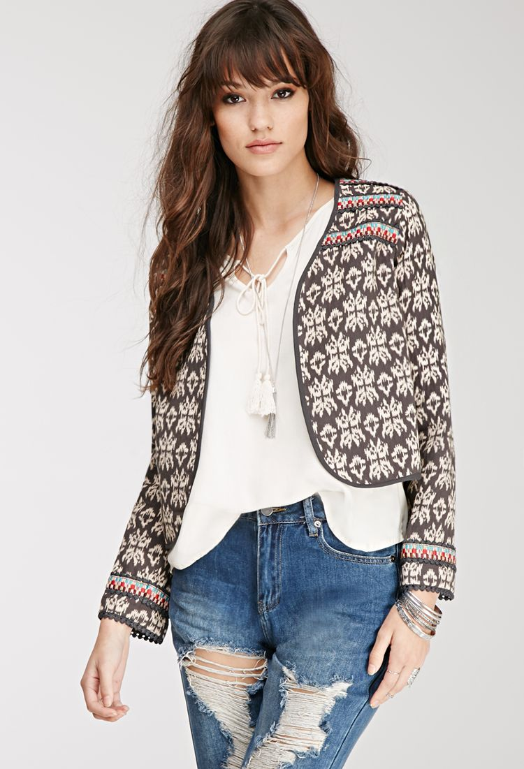Embroidered Southwestern Pattern Jacket | FOREVER21 - 2000082443