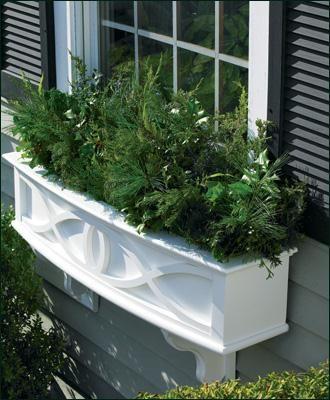 Dory Half Planter Or Window Box Wood Window Boxes Vinyl Window