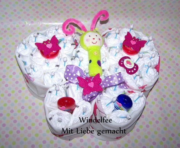 windeltorte schmetterling windeltorte pinterest babies diapers and gift. Black Bedroom Furniture Sets. Home Design Ideas