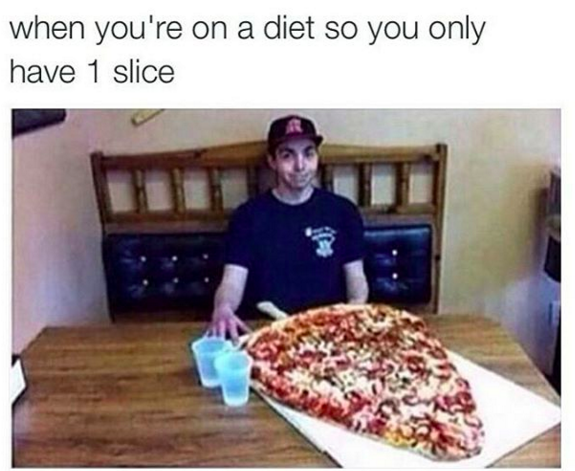 When you try to diet and limit your portions: | 26 Things You'll Only Understand If You Love A Good Feed