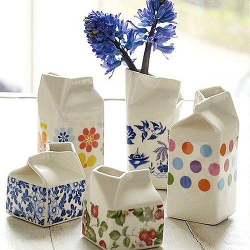 Ceramic Milk Carton Ceramics Projects Pottery Pottery Painting